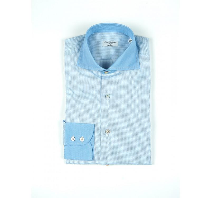Сорочка мужская с контрастными манжетоми
