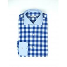 Сорочка мужская с контрастными манжетами