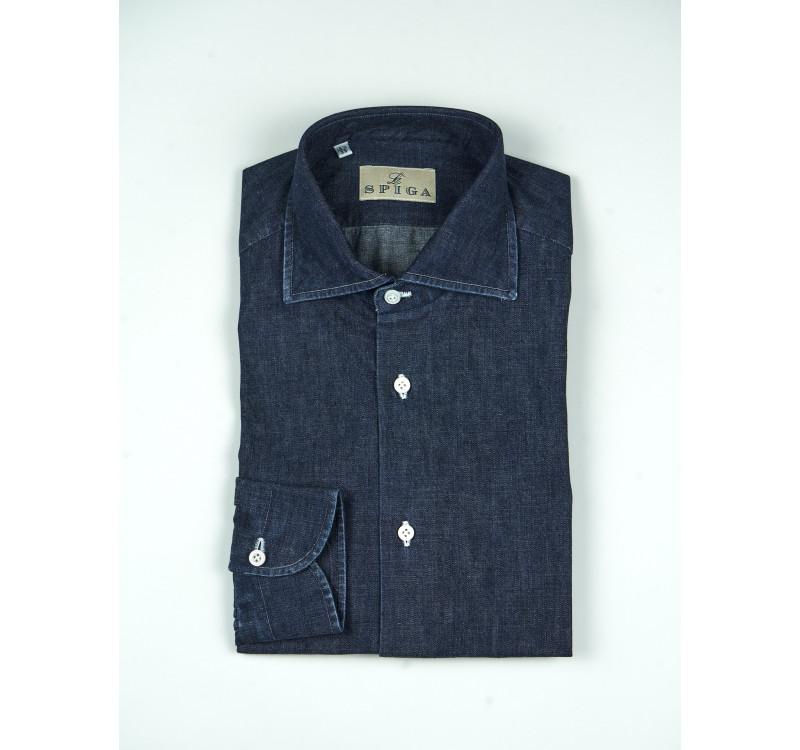 Сорочка мужская джинсовая